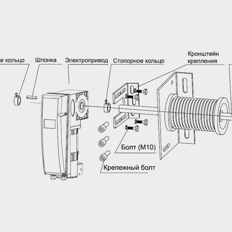 Комплект привода Shaft-50KIT, вес ворот до 270 кг
