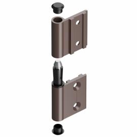Дверь DoorHan B= 880, H=2 050 (коричневая)